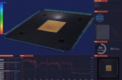 QFP - 端子とヒートシンクのスタンドオフ測定の説明画像