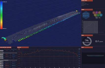 BtoBコネクター - 端子コプラナリティ測定の説明画像