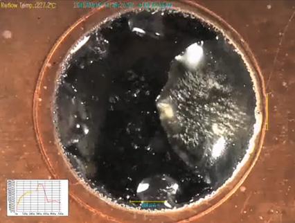 ハンダ - フラックス飛散の説明画像