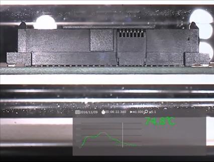 コネクタ - ーハウジングの熱膨張の説明画像