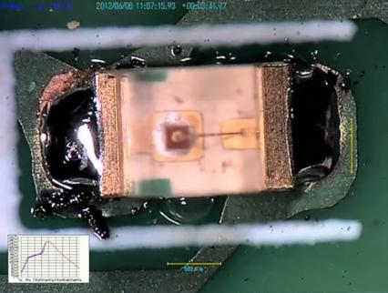 チップ部品 - ハンダ濡れ上がりと毛細管現象の説明画像