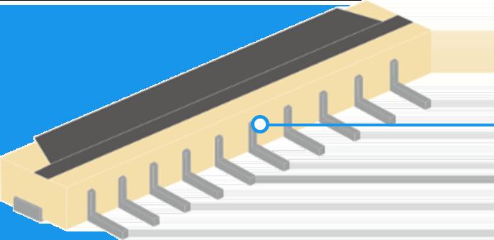 コネクター樹脂の熱膨張解析の説明画像